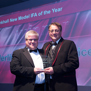 Peter Smith collects Bankhall New Model IFA of the Year award 2010